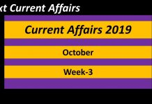 october 3 week current affairs 2019