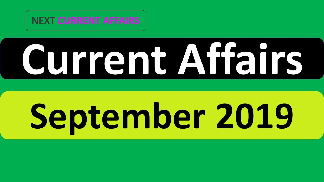 September month current affairs 2019 PDF