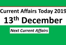 current affairs today 13th december 2019